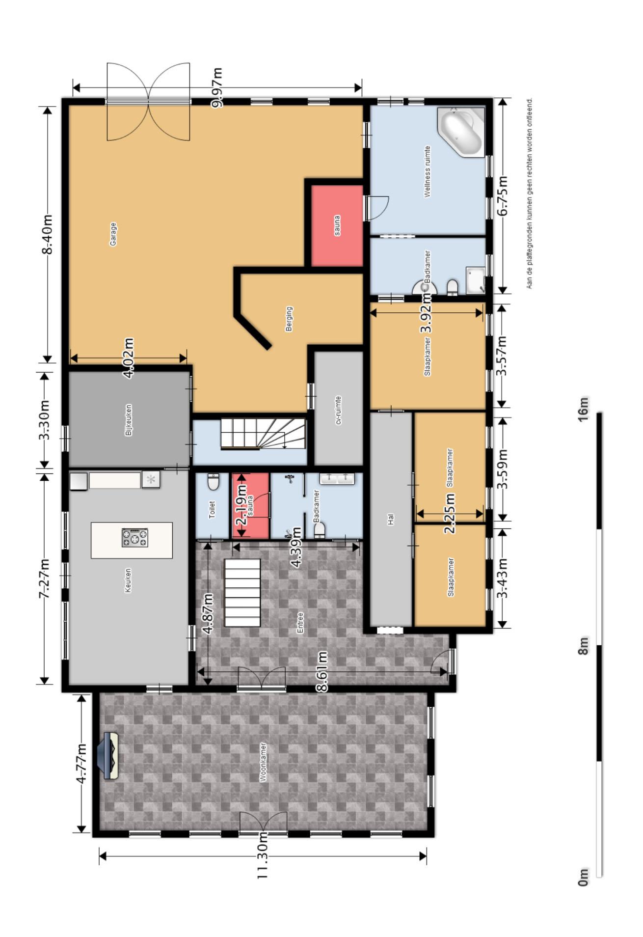 Een plattegrond van waduniek - Ingang van een huis ...